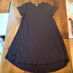 LuLa Roe Carly Dress short sleeve high low NWOT
